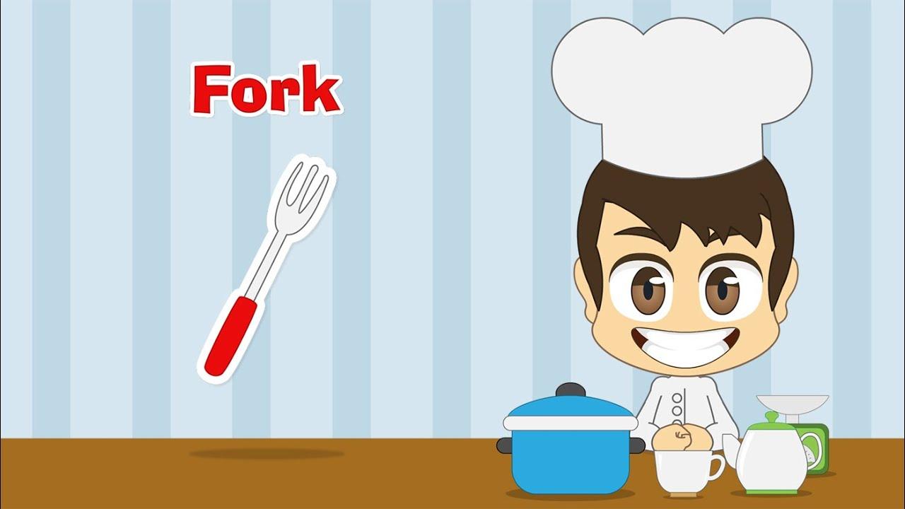 5fb1e7456 Learn ِKitchen Tools in English for Kids - تعليم أدوات المطبخ باللغة  الإنجليزية للاطفال