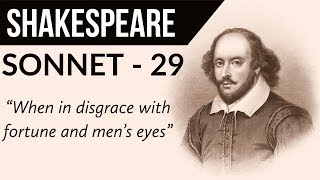 English Poem - Sonnet 29 by WILLIAM SHAKESPEARE - When, in disgrace with fortune and men's eyes