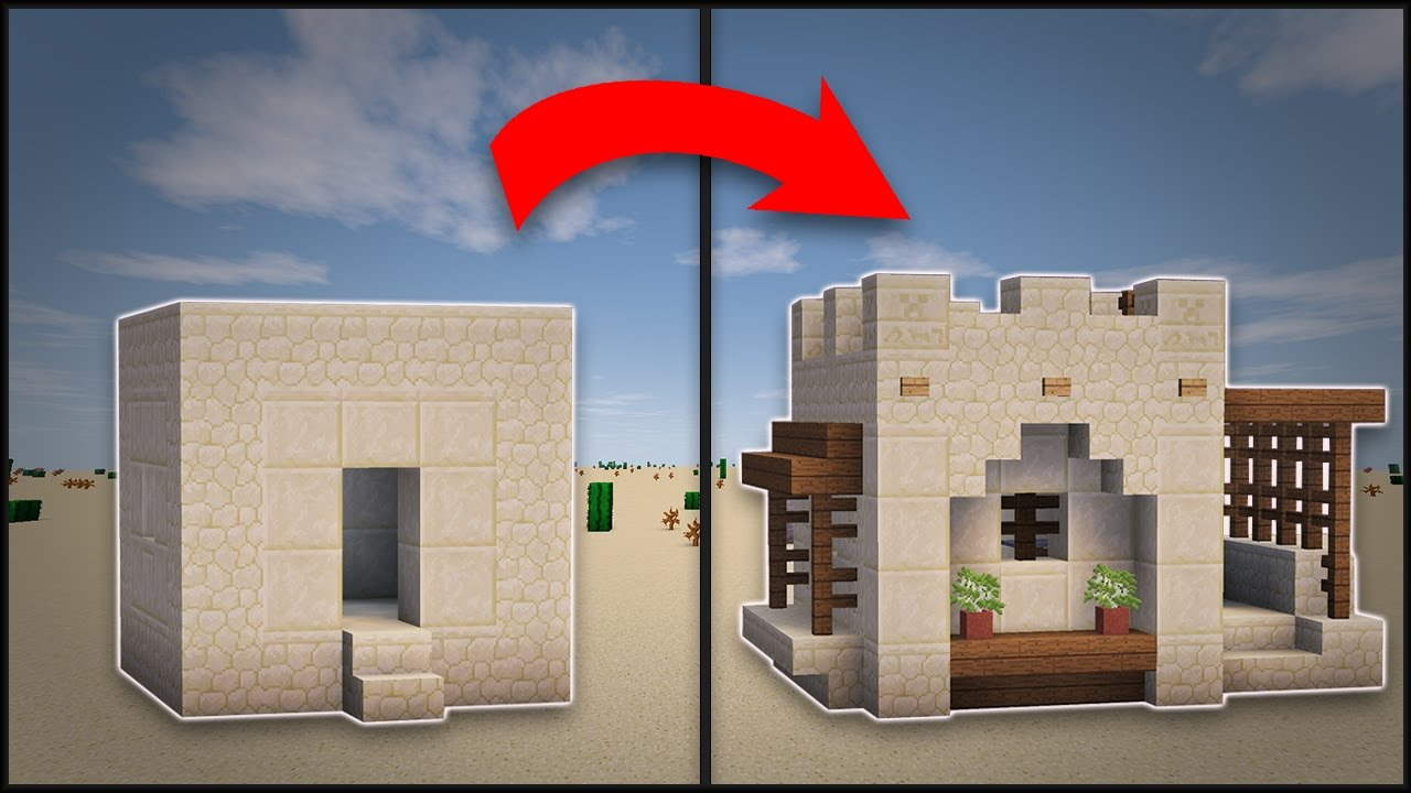 Minecraft how to remodel a desert village small house for Best village house designs