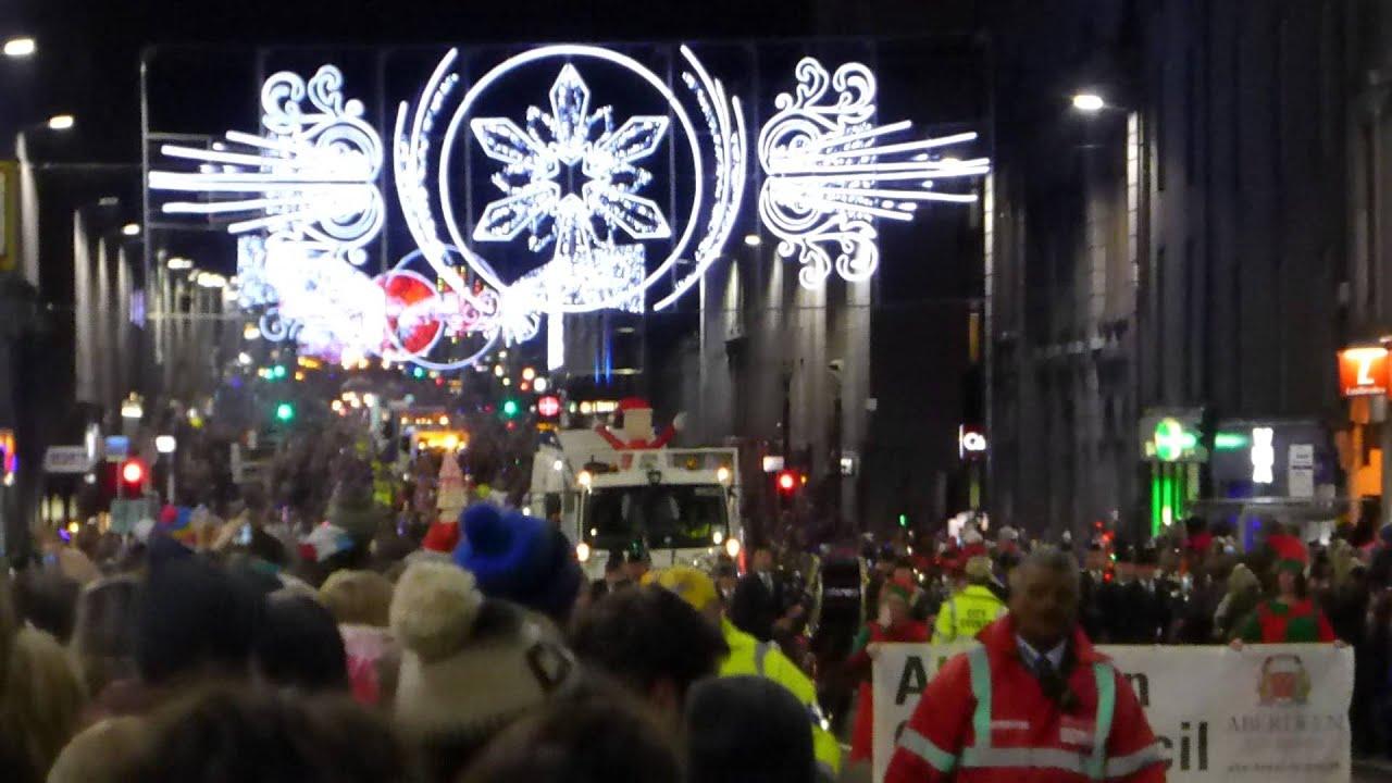Aberdeen Union Street Christmas Lights Switch On November 2014 - YouTube