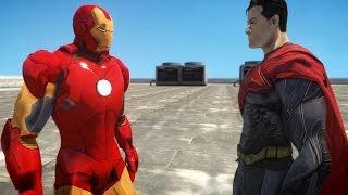 IRON MAN VS SUPERMAN - EPIC SUPERHEROES BATTLE - GTA IV