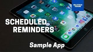 Scheduled Reminders  ||  Sample App