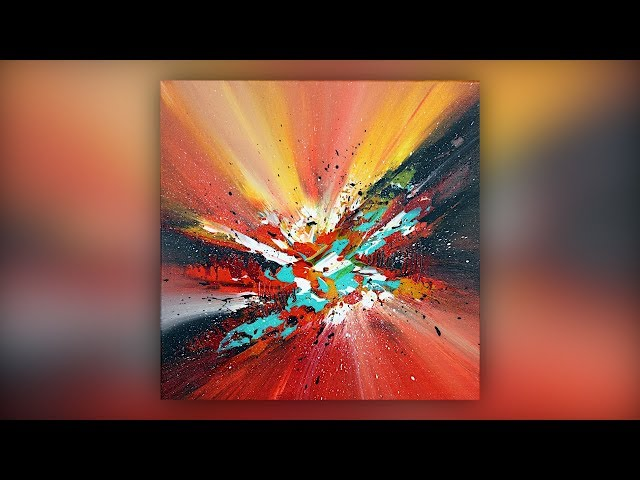 Colorful Abstract Painting / Acrylic Paint / Palette Knife Technique / Demo #025
