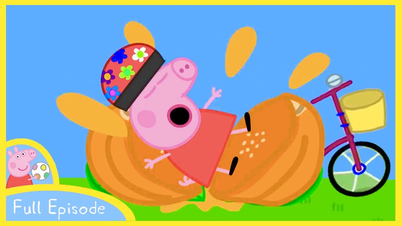Peppa Pig Cartoon Peppa Compete With Friends On Bicycle Full Episode