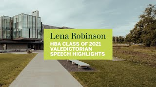 Thumbnail Lena Robinson | HBA Class of 2021 Valedictorian Speech Highlights