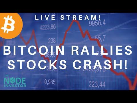 Bitcoin & Litecoin Moving - Stocks Crash!  Live Charts Review