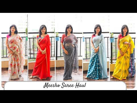 My Saree Haul | Meesho Online Saree Shopping Haul | साड़ी शॉपिंग वीडियो ~ Home 'n' Much More