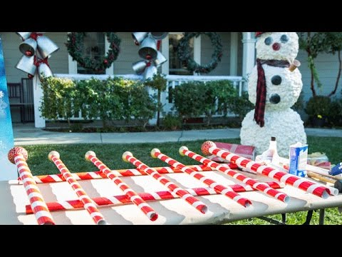 How To - Paige Hemmis' DIY Giant Candy Cane Picket Fence - Hallmark Channel
