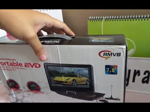 Unboxing Portable Dvd Player 7 8 Tft Screen Malaysia