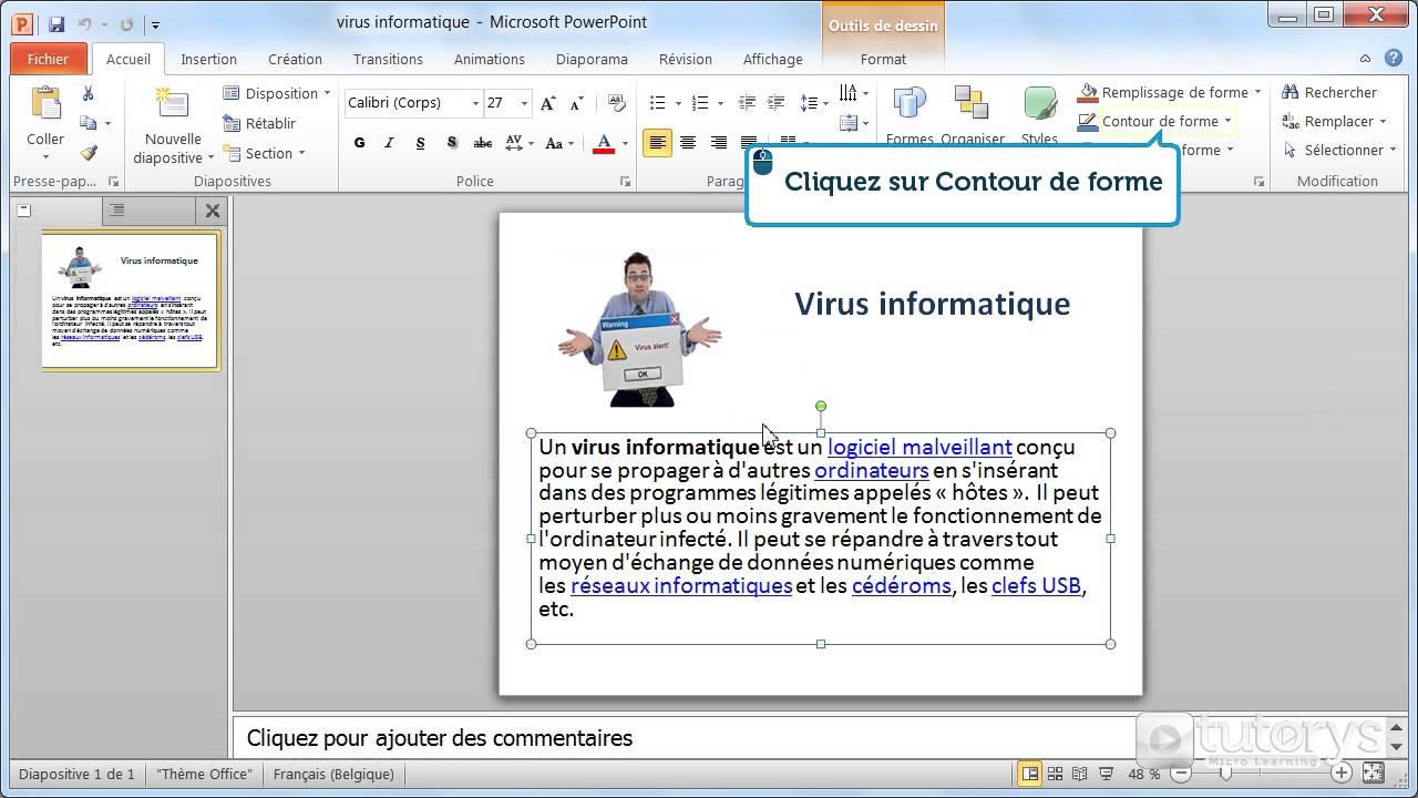 Comment Mettre En Forme Les Bordures Avec Powerpoint 2010