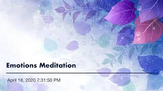 Emotions Meditation