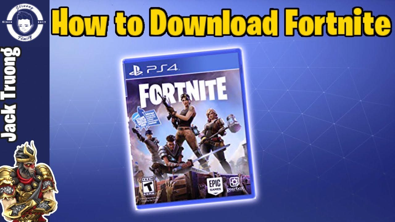 How To Download Fortnite Battle Royale On Ps4 - YouTube