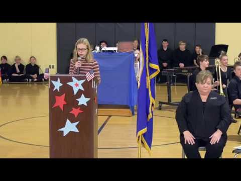 2019 Robert J Elkington Middle School Veterans Day Program