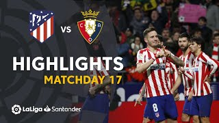 Highlights Atlético de Madrid vs CA Osasuna (2-0)
