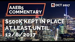 "No Change to EB-5 Investment Amount ""at least"" until 12/8/2017"