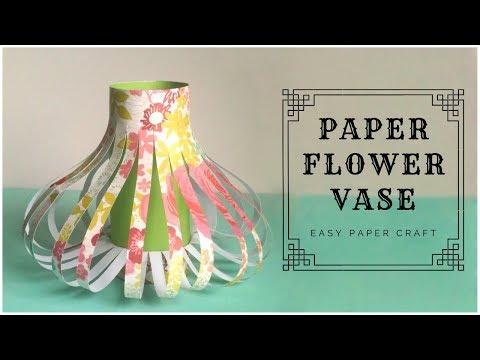 Paper Flower Vase | DIY Home Decor Ideas | Paper Craft Easy