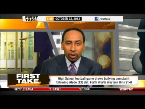 ESPN First Take | Aledo Highschool accused of BULLYING after 91-0 victory