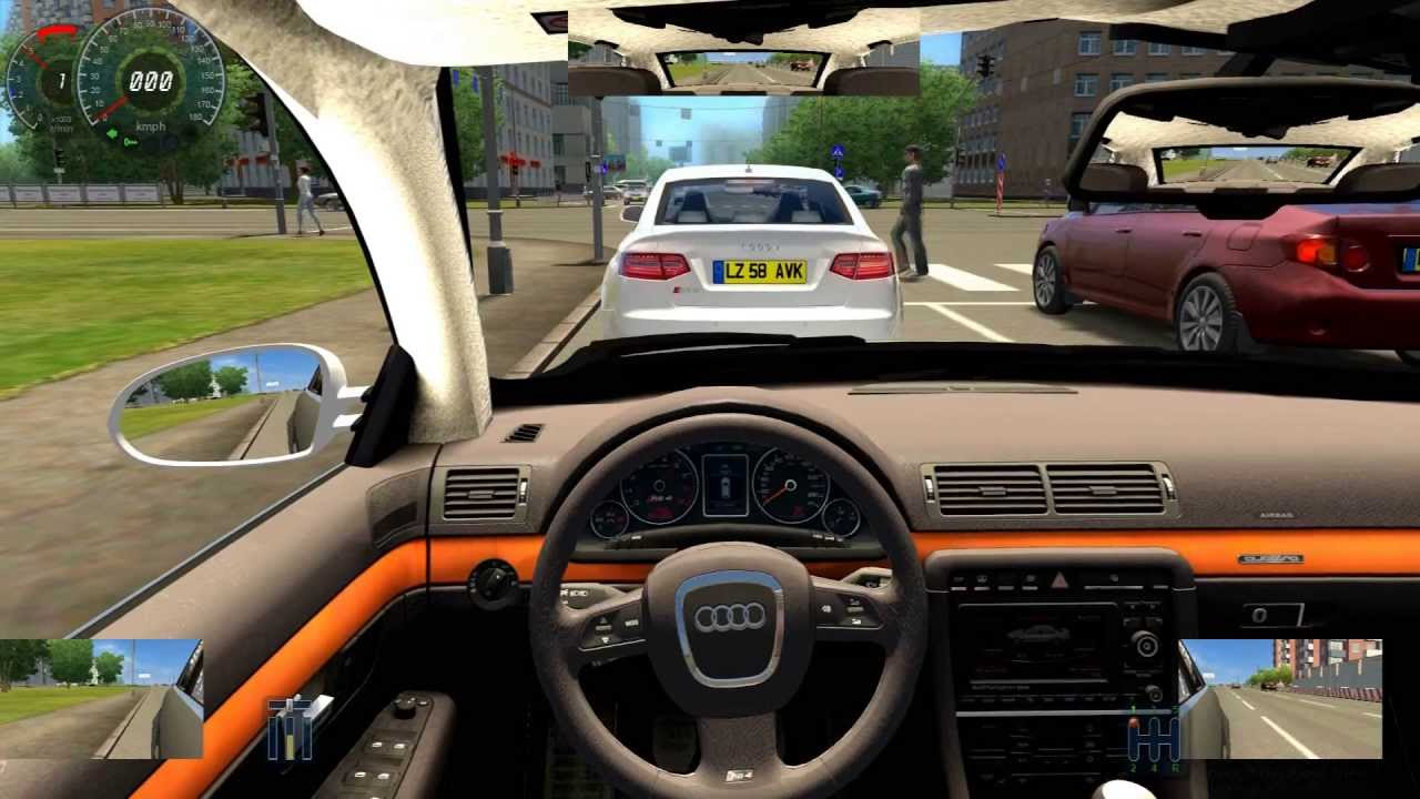 audi rs4 city car driving 3d instructor hd gameplay fast. Black Bedroom Furniture Sets. Home Design Ideas