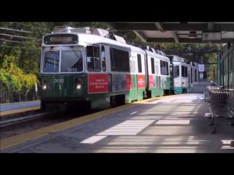 MBTA Green Line D Branch 1986 Kinki-Sharyo Type 7 LRV