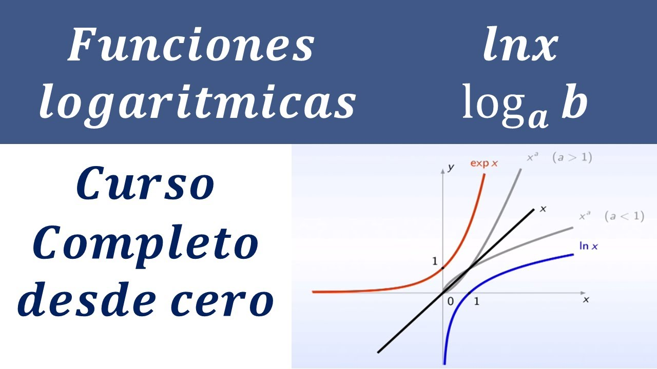 Funcion Logaritmica Logaritmo Lnx Logx Base E A N Tutorial Curso Completo