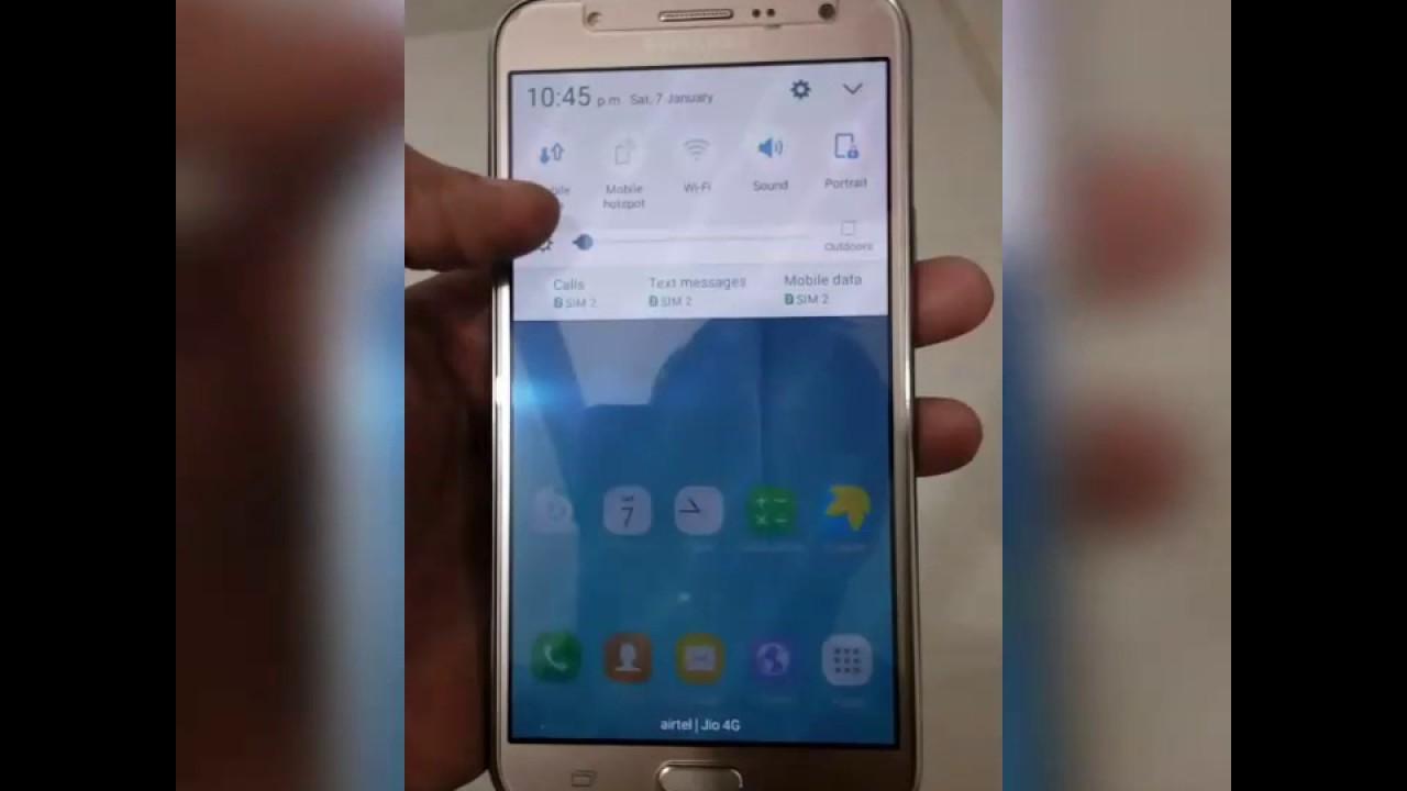 Samsung galaxy J7 - Brightness Problem / Flickering screen Problem