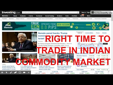 RIGHT TIME TO TRADE IN INDIAN COMMODITY MARKET