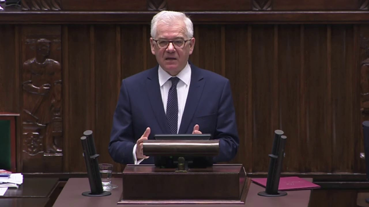 Jacek Czaputowicz – Expose Ministra Spraw Zagranicznych