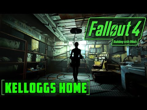 KELLOGG'S HOUSE - BUILDING WITH MODS - FALLOUT 4 - LORE FRIENDLY - WORKING LIGHT AND DOOR SWITCHES