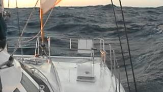 40knots on the beam in my dean 40 fast cruising catamaran .MOD