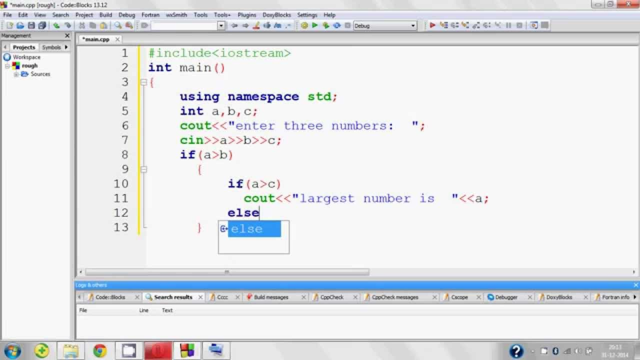C Program Largest Number