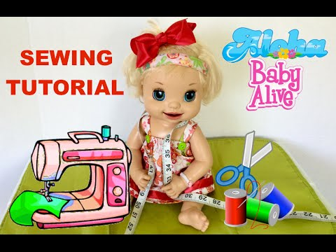 Simple Doll Dress Sewing Tutorial with Layla
