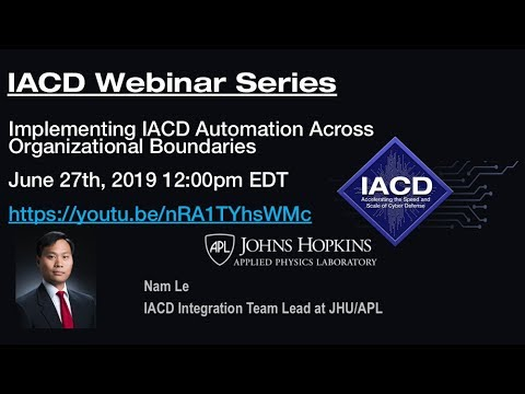 Implementing IACD Automation Across Organizational Boundaries