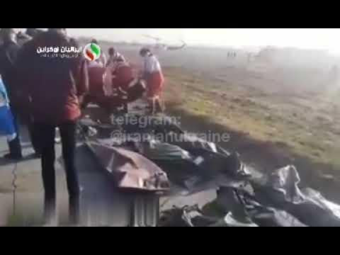 Видео крушения украинского Боинга в Тегеране