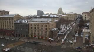 Путевые Заметки.Украина,январь 2017: аппартаменты Partner Guest House в Киеве на Крещатике в 4K