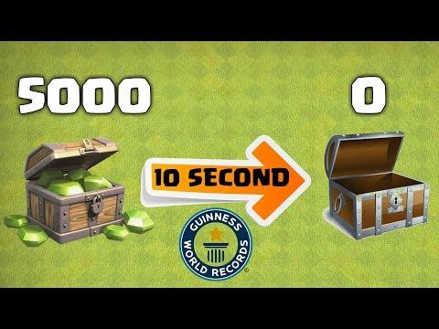 SPENT 5000 GEMS IN 10 SECOND, CLASH OF CLANS