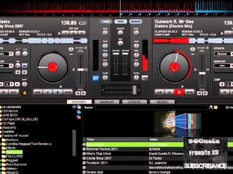 Enganchando tecno - electro - dance con virtual Dj ~