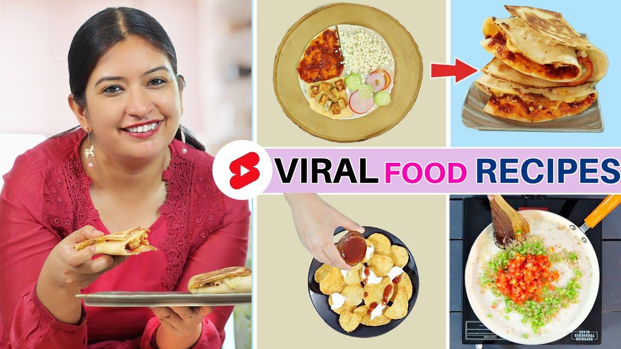 4 Viral Food Recipes- Kids Snacks | CookWithNisha
