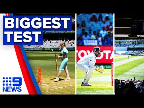 30,000 people gather for Boxing Day Test   9 News Australia thumbnail