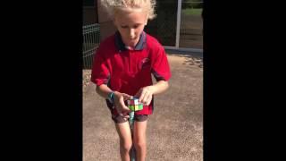 ewan chate 2x2 rubik s cube and pyraminx pogo stick world record attempt