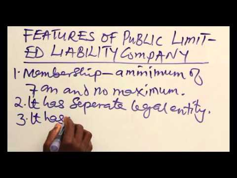 main features of a public limited company