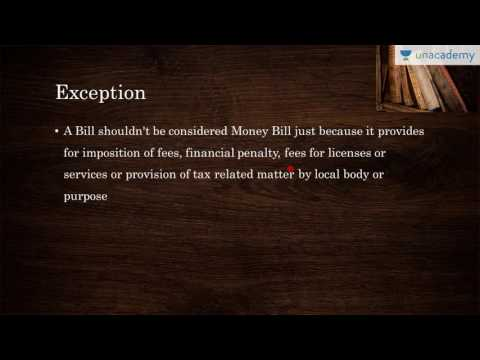 Unacademy Polity Lecture for IAS:  Money Bill: Definition and Detailed Outlook