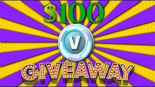 $100 V-BUCK GIVEAWAY! - Fortnite Battle Royale - NOT CLICKBAIT!