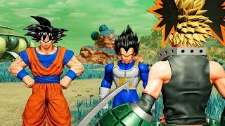 Jump Force DLC Story - Goku & Vegeta Meet Bakugo, Goku Thinks He is Like Vegeta (Special Dialogue)