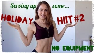 Video HOLIDAY HIIT #2 | 800 Calorie Burn Home Workout | No Equipment download MP3, 3GP, MP4, WEBM, AVI, FLV November 2017