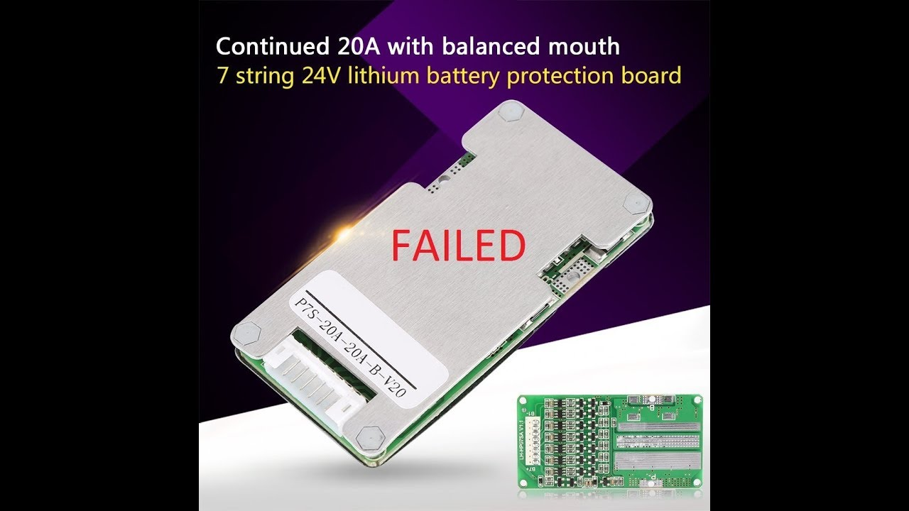 24V 20A 7S Lithium Li-ion LiFePO4(failed avoid)