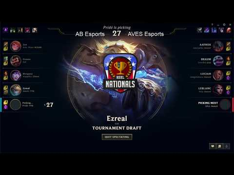 HSEL Nationals 2018 | Semifinals | League of Legends | AVES vs. AB Esports