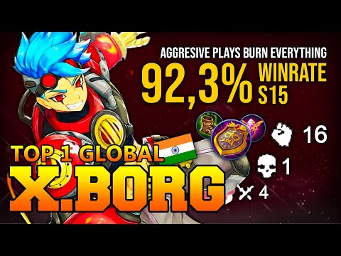 AGGRESSIVE PLAYS TOP 1 X BORG BURN EVERYTHING - TOP 1 GLOBAL X BORG Rizwan - MOBILE LEGENDS