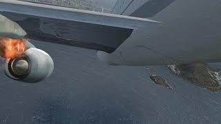 انفجار محركات الطائرة في وجود عاصفة رعدية وسقوطها و الهبوط اضطراريا على البحر