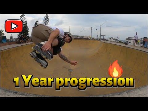 1 Year Rollerblading