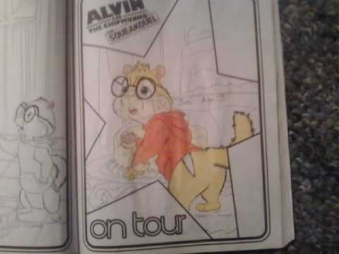Alvin And The Chipmunks Coloring Book Coloring And Drawing